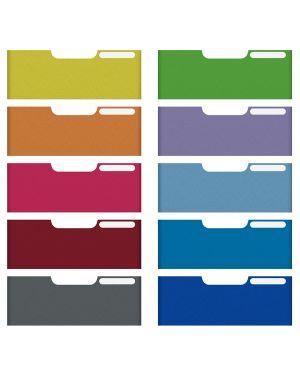 Set 10 frontalini colorati per cassetti 11cm modulo a4 multiform 338999D 9002493427303 338999D_61966