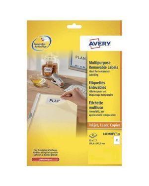 Etichette rim. 199 6x143 5mm 25ff Avery L4734REV-25 4004182047347 L4734REV-25