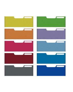 Set 10 frontalini colorati per cassetti 8,2cm modulo a4 multiform 337999D 9002493422636 337999D_62624