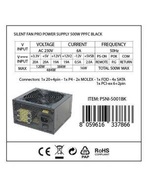 Alim. 500w silent fan pro black Nilox PSNI-5001BK 8059616337866 PSNI-5001BK