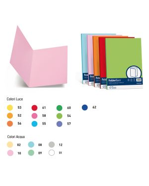 50 cartelline semplici acqua 200gr 25x34cm rosa favini A50S664 8007057262100 A50S664_64436