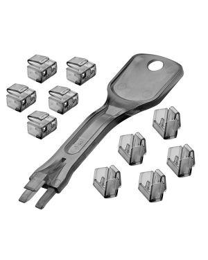 Blocca porte rj45 10 pezzi 1 chiave Lindy 40470-LND 4002888404709 40470-LND