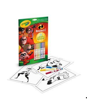 Album attività coloring gli incred2 Crayola 04-0355 71662103552 04-0355