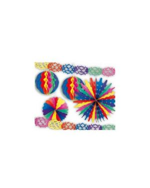 Set 6 festoni in carta multicolor pegaso PB 919 M_64751