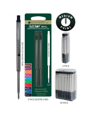 Blister 2 refill per sfera waterman ® nero punta media J223301 80333884515 J223301_64781 by Monteverde