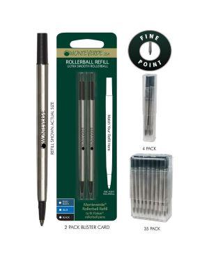 Blister 2 refill in metallo per roller parker ® nero punta fine J231201 80333885116 J231201_64800