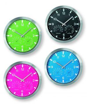 Orologio weather station color Ø30cm nero art.3218 3218-N 8002787932187 3218-N_64818