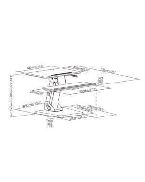 Postazione pc da tavolo ergonomica Nilox RO17.99.1177 7611990146147 RO17.99.1177