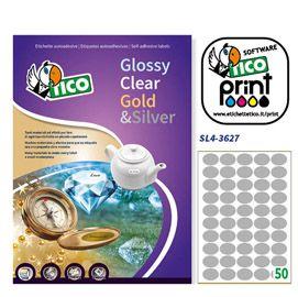 Etichetta adesiva sl4 ovale argento satinata 100fg a4 36x27mm (50et - fg) tico SL4-3627 8007827241076 SL4-3627_65023 by Tico