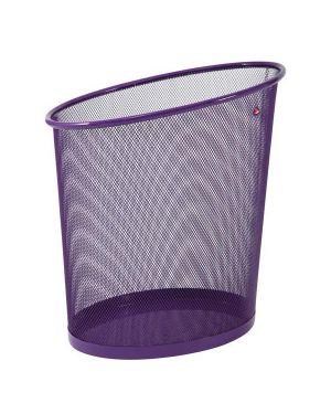 Cestino gettacarte 18lt mesh in rete metallica viola alba MESHCORB/P 3129710012886 MESHCORB/P_65183
