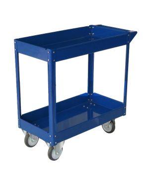 Carrello c - ruote in acciaio verniciato blu 2 ripiani 84x41cm h 82cm TC4102 8032937533452 TC4102_65195