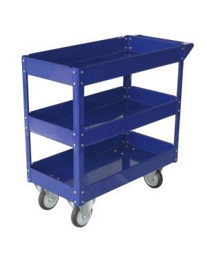 Carrello c - ruote in acciaio verniciato blu 3 ripiani 84x41cm h 82cm TC4103 8032937533957 TC4103_65196