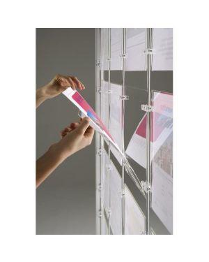 Porta avvisi menpa da terra con 18 display a4 orizzontali MPA-186H 8010026007138 MPA-186H_65233 by Tecnostyl