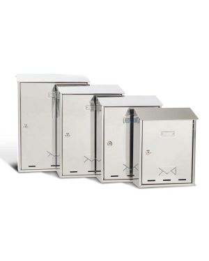 Cassetta postale 27,5x35x12cm inox serie elios 3100X/2 8022715317022 3100X/2_65340