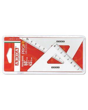 Coppia squadre 45° 12cm alluminio Arda 80312 8003438007414 80312