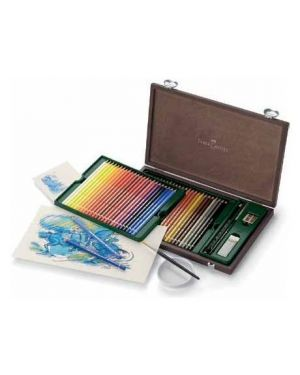 Valigetta legno 48 matite acq+acc Faber Castell 117506 4005401175063 117506 by No