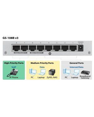Gs-108b v3 switch un 8 pt metallo Zyxel GS-108BV3-EU0101F 4718937586301 GS-108BV3-EU0101F