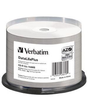 Spindle 50cdr wide silver printable Verbatim 43653 23942436539 43653