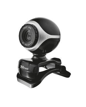 Webcam exis per pc e laptop con microfono integrato - nero - silver - trust 17003 8713439170030 17003_67726