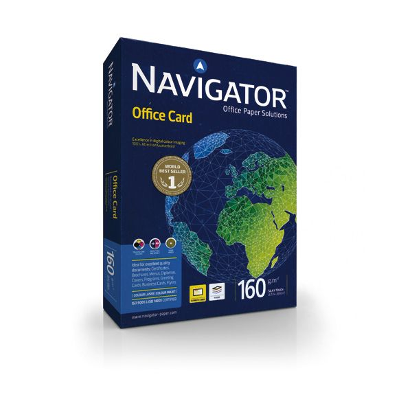 Carta navigator office card a4 160gr 250fg 210x297mm 02 A4 160 NAV 5602024381377 02 A4 160 NAV_67790 by Navigator