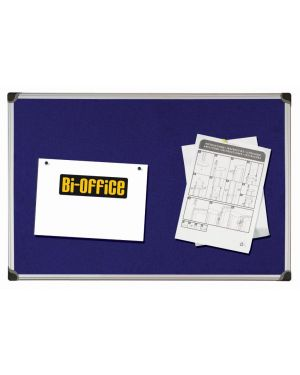 Pannello in tessuto 90x120cm blu felt board bi-office FA0543178 5603750355694 FA0543178_67796 by Bi-office