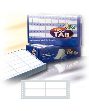 Scatola 8000 etichette adesive tab2 1003 100x36,2mm corsia doppia tico TAB2-1003_68188