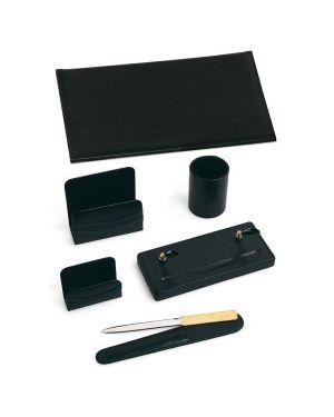 Servizio scrittoio classic nero in similpelle (6 componenti 121-N 8002787001210 121-N