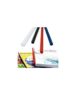 100 dorsi plastici 21 anelli 12mm rosso titanium PB412-03T_68489