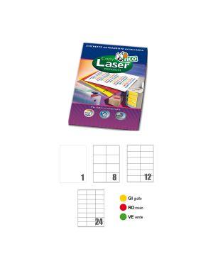 Etichetta adesiva lp4c verde opaco 70fg a4 210x297mm (1et - fg) tico LP4CV-210297 8007827192422 LP4CV-210297_68644