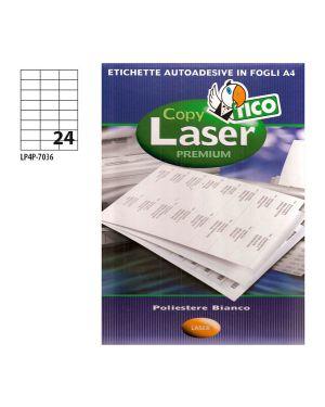 Poliestere adesivo lp4p bianco 70fg a4 70x36mm (24et - fg) laser tico LP4P-7036 8007827192163 LP4P-7036_68738 by Tico