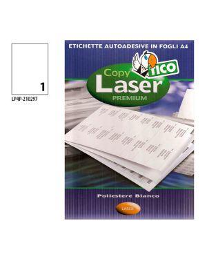 Poliestere adesivo lp4p bianco 70fg a4 210x297mm (1et - fg) laser tico LP4P-210297 8007827192217 LP4P-210297_68740 by Esselte