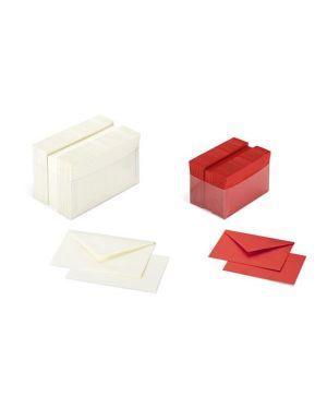 Scatola 100 cartoncini 200gr + 100 buste 90gr rosso formato 9 favini A57C174 8007057745207 A57C174_70569 by Esselte