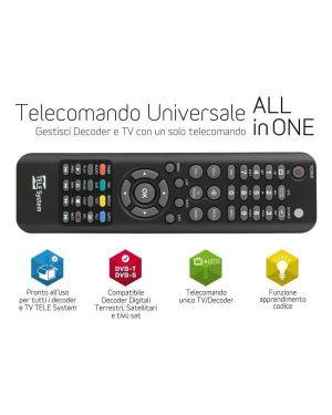 Telecomando universale all in one Telesystem 58040107 8024427016132 58040107 by No