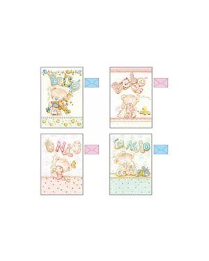 Biglietti nascita teddy carta avorio e oro KARTOS 17846001 8009162310929 17846001