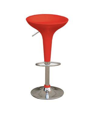 Sgabello bar in abs e acciaio h55 - 78cm rosso HC148R 8032937533100 HC148R_71210