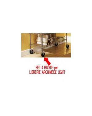 Set 4 ruote per librerie archimede light O0920031_71228