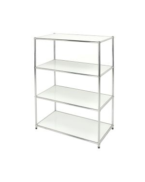 Libreria 4 ripiani acciaio - bianco 80x40cm - h120cm easy system E-408012W 8032937535401 E-408012W_71288 by Serena Group