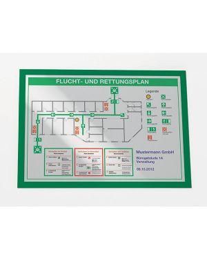 Cornice magnetica duraframe a3   29,7x42cm verde durable CONFEZIONE DA 2 4873-05_71566 by Esselte