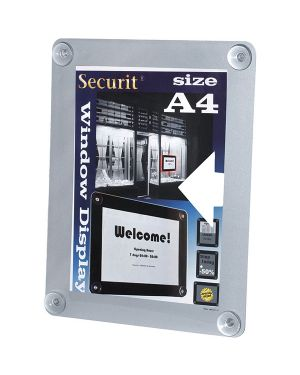 Display informativo a ventose x f.to a4 grigio PFW-A4-GY 8717624248399 PFW-A4-GY_71597 by Securit