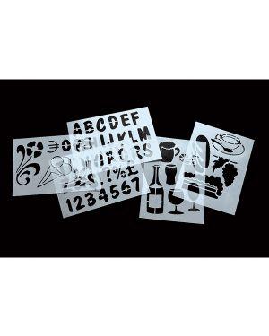 Set 6 stencil trasparenti assortiti securit SECSTN-5 8717624241932 SECSTN-5_71626 by Securit