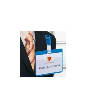 25 portanome tasca aperta 60x90mm blu durable 8106-06_71687 by Esselte