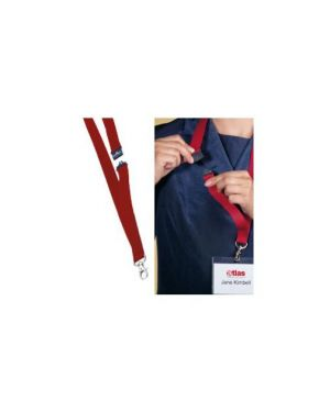 10 cordoncini portabadge 20mm rosso durable 8137-03_71691 by Durable