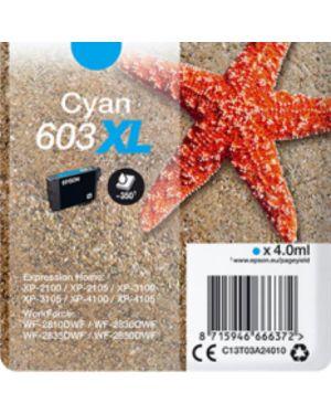 Cart.ink ciano 603xl stella marina Epson C13T03A24020 8715946666389 C13T03A24020