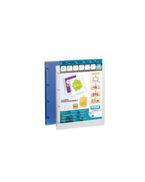Raccoglitore personalizzabile a4 4anelli Ø 20mm blu trasp. polyvision 100201431_71813