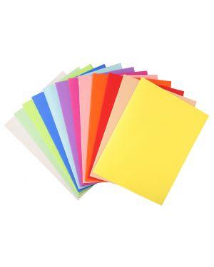 100 cartelline semplici 220gr 24x32cm mix 5 colori foldyne 410000E 3288584100003 410000E_71853