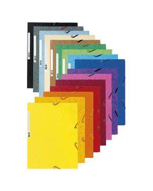 Cartella con elastico 24x32cm giallo limone cartoncino lustre' 425gr 55529E 3130630555292 55529E_71870 by Exacompta