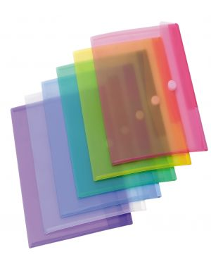 Set 12 buste ppl con velcro colori assortiti tarifold B510209_71888 by Esselte