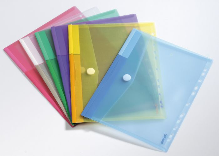 Set 12 buste forate ppl con velcro colori assortiti tarifold B510229 3377995102291 B510229_71889 by Esselte