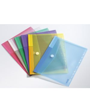 Set 12 buste forate ppl con velcro colori assortiti tarifold B510229 3377995102291 B510229_71889 by Tarifold