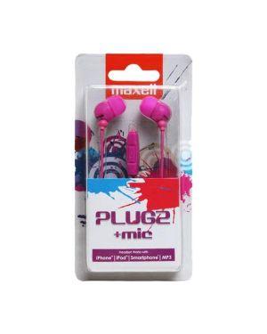 Auricolari microfono pink  plugz  f Maxell 303762 4902580771980 303762